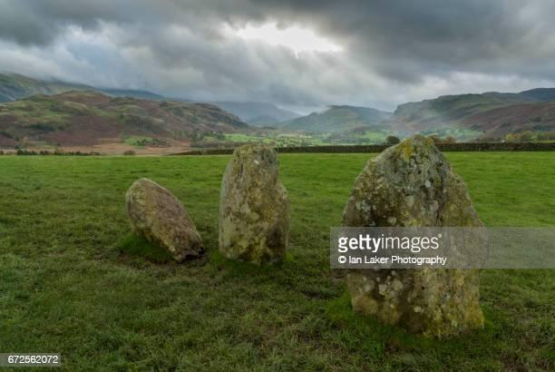 Detail of Castlerigg Stone Circle, Keswick, English Lake District, Cumbria, England, UK.