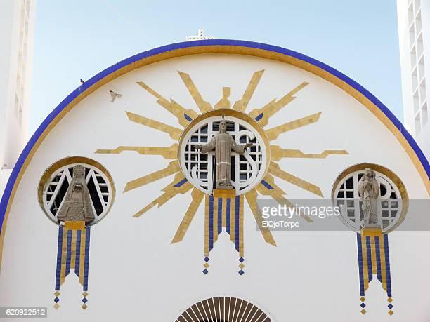 """detail of """"catedral de nuestra señora de la soledad"""", acapulco, mexico - acapulco stock pictures, royalty-free photos & images"""