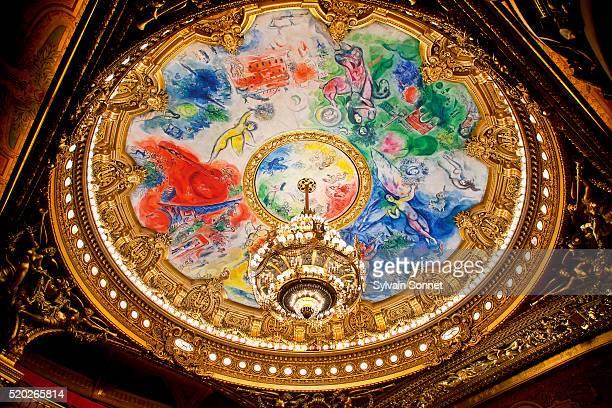 Detail of ceiling in Paris Opera