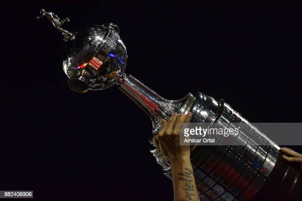 Detail of champions trophy of Copa Libertadores after the second leg match between Lanus and Gremio as part of Copa Bridgestone Libertadores 2017...