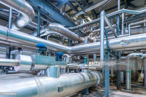 detail of chemical plant - industry stock pictures, royalty-free photos & images
