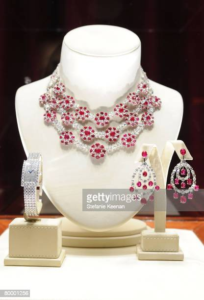 Detail of Chopard jewelry at the 16th Annual Elton John AIDS Foundation Oscar Party sponsored by Chopard at the Pacific Design Center on February 24,...