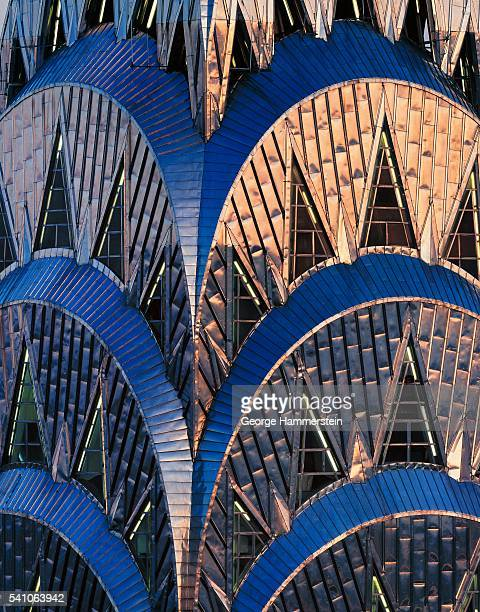 detail of chrysler building - chrysler building stock pictures, royalty-free photos & images