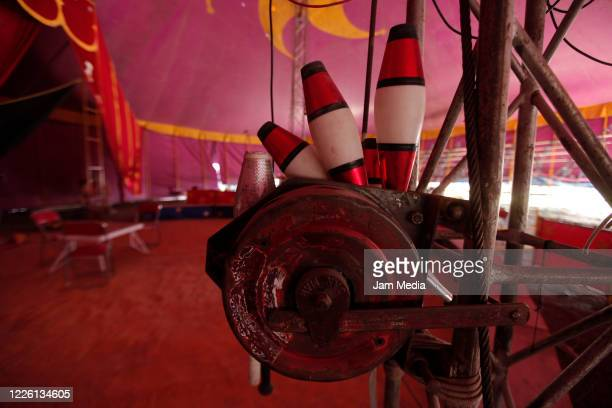 Detail of circus on May 20 2020 in Queretaro Mexico As nonessential activities are not permitted during stage three of the nationwide health...