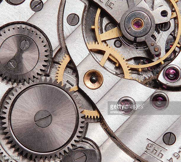 detail of clockwork - swiss culture stock pictures, royalty-free photos & images