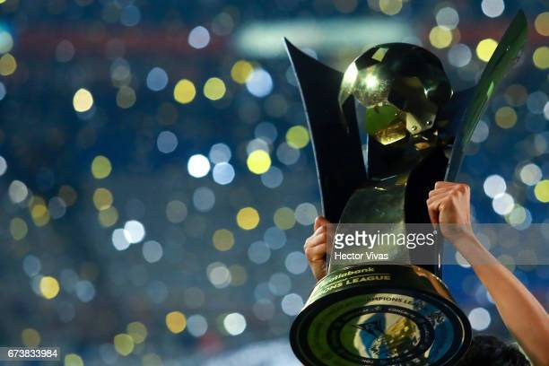 Detail of CONCACAF Champions League throphy after the Final second leg match between Pachuca and Tigres UANL as part of the CONCACAF Champions League...