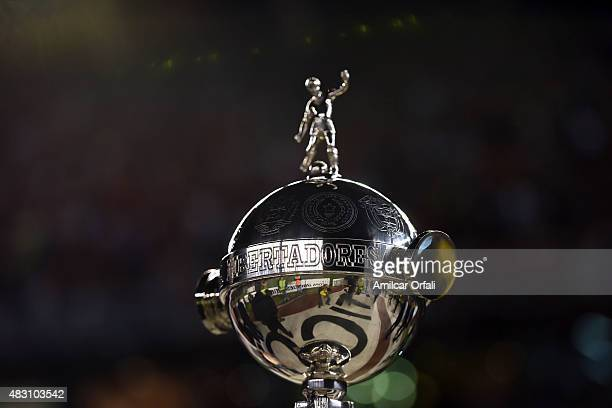 A detail of Copa Libertadores trophy during a second leg final match between River Plate and Tigres UANL as part of Copa Bridgestone Libertadores...