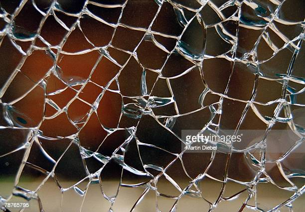 Detail of cracked glass