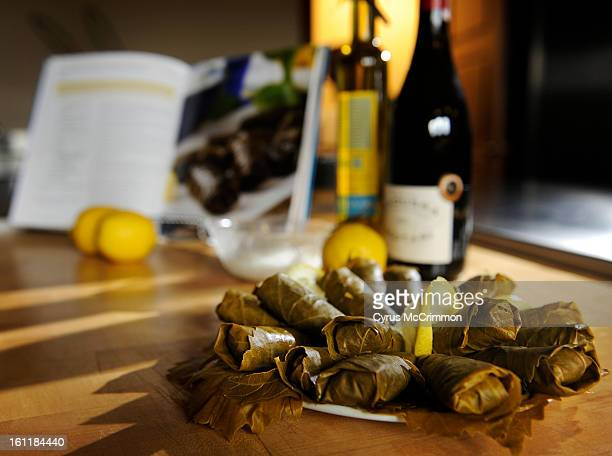 """Detail of dolmades from their new cook book called """"A Festival of Greek Flavors"""" done by the Greek Ladies Philoptochos Society at the Metropolis..."""