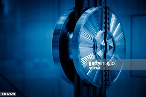detail of doorknob on glass door in blue tone - premium access stock pictures, royalty-free photos & images