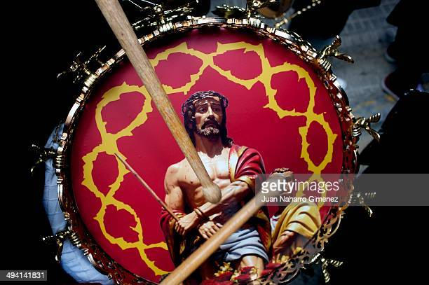 Detail of drumm during Holy Week at Hellin on Apr 16 2014 in Hellin Spain During Holy Week in Hellin coexist two different rites the christian...