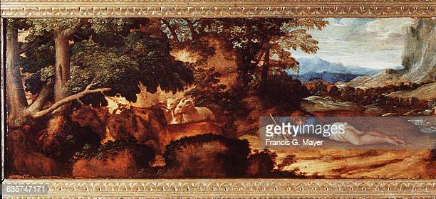 Detail of Endymion and His Flock by Titian