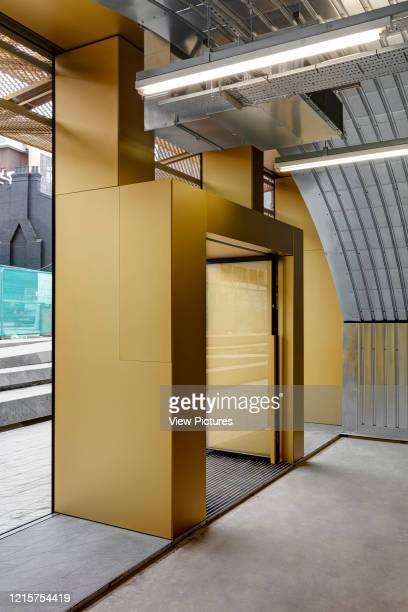 Detail of entrance door. Morning Lane Arches, London, United Kingdom. Architect: Adjaye Associates , 2016..
