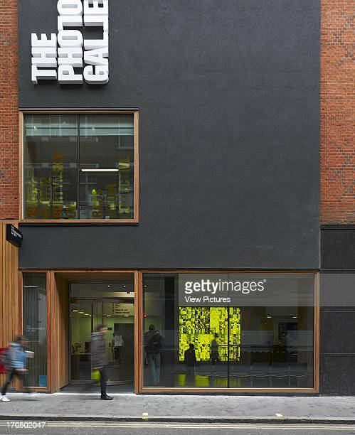 Detail of entrance facade with wraparound groundfloor window Photographers' Gallery Art Gallery Europe United Kingdom O'Donnell and Tuomey and ADP