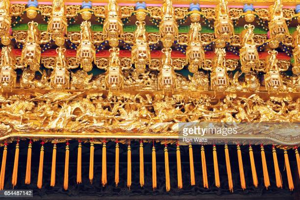 detail of entranceway at sou cheng temple - tassel stock pictures, royalty-free photos & images