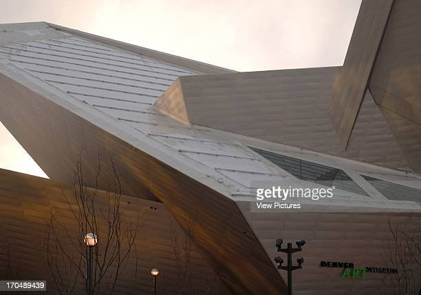 Detail of exterior at sunset Extension to the Denver Art Museum Frederic C Hamilton Building Museum North America United States CO Daniel Libeskind