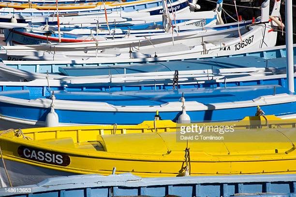 Detail of fishing boats in Cassis harbour.