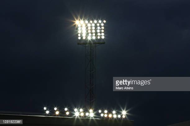 Detail of floodlights during the Premier League match between West Bromwich Albion and Everton at The Hawthorns on March 4, 2021 in West Bromwich,...
