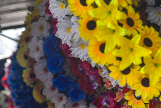 SLV: Day Of The Dead Flowers At San Miguelito Market