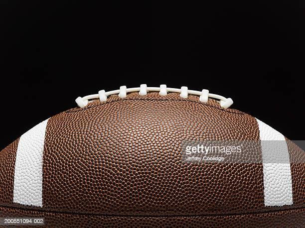 detail of football and laces, side view - amerikansk fotboll boll bildbanksfoton och bilder