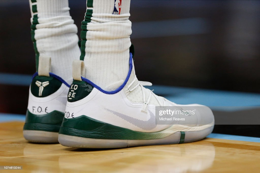 04d9d953bc8f A detail of Giannis Antetokounmpo of the Milwaukee Bucks shoes ...