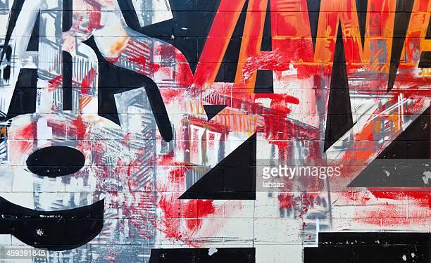 Detail of graffiti. Art or vandalism.
