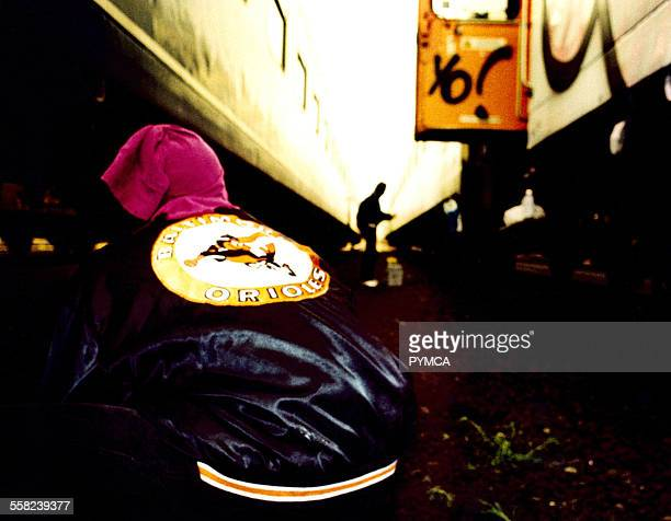Detail of Graffiti Artists coat Germany 2000