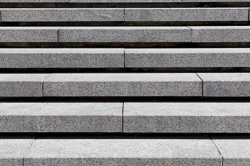 detail of gray stone granite stairs, horizontal - gettyimageskorea