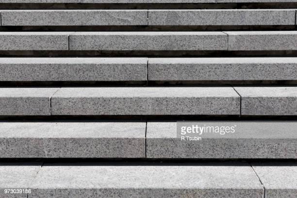 detail of gray stone granite stairs, horizontal - escalones fotografías e imágenes de stock
