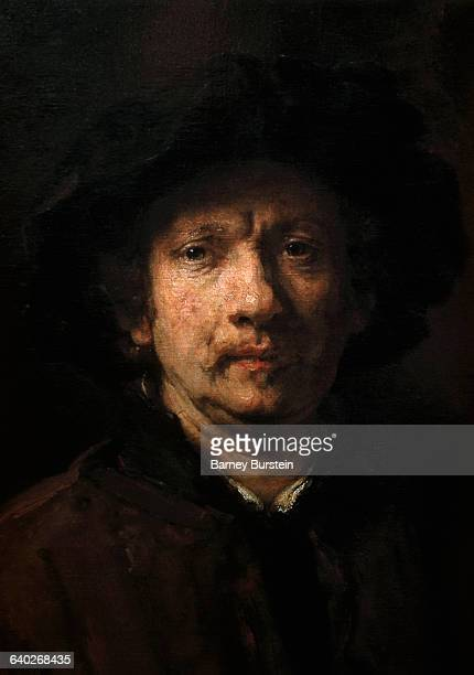 Detail of Head from Portrait of the Artist by Rembrandt van Rijn