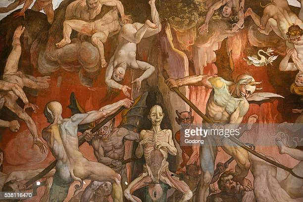 Detail of Hell from Last Judgment Fresco Cycle by Frederico Zuccaro and Giorgio Vasari
