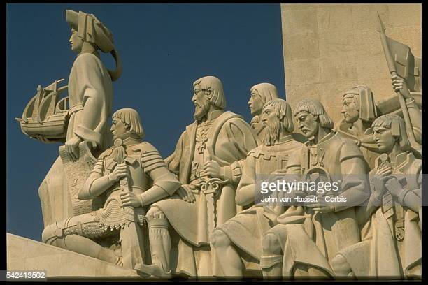 Detail of Henry the Navigator and Others from the Monument to the Discoveries by Jose Angelo Cottinelli Telmo and Leopoldo Neves de Almeida