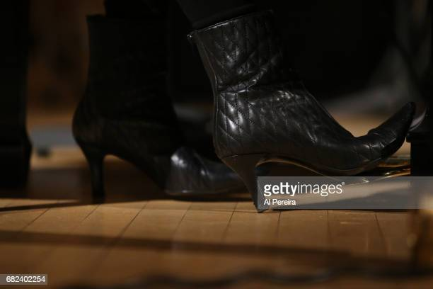 Detail of her shoes when Judy Collins rehearses for in 'City Winery Presents A Celebration of the Music of Jimmy Webb' at Carnegie Hall on May 3 2017...