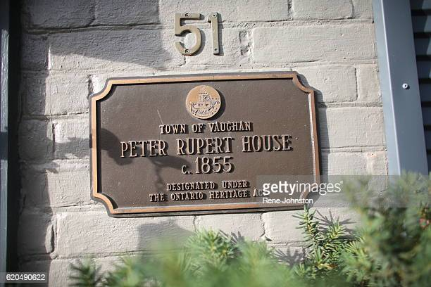 TORONTO ON October 31Detail of Heritage plaque Andrea Mathieson is the owner of The Rupert House A piece of Torontoarea history is on the market...