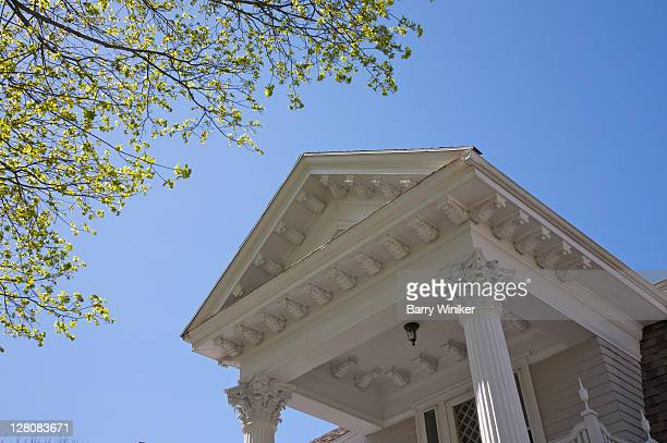 Detail of historic home in Andover, Massachusetts, USA