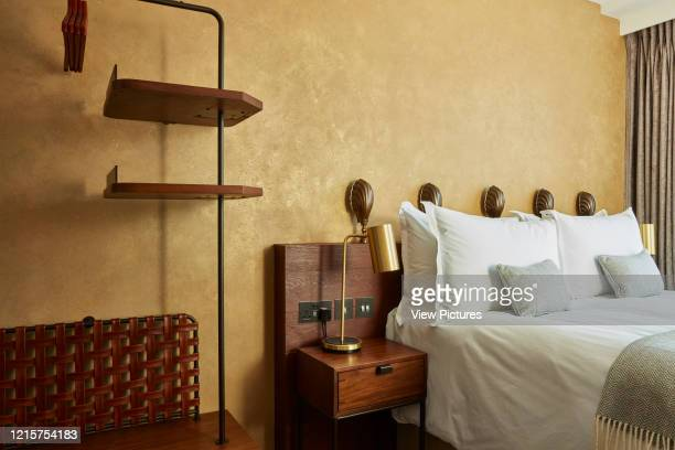 Detail of hotel room interior Indigo Hotel Leicester Square London United Kingdom Architect Michaelis Boyd Associates Ltd 2018