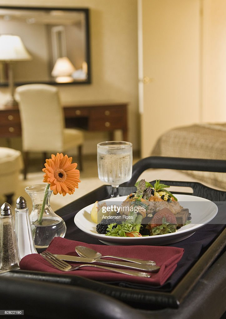 Hotel Room Photography: Detail Of Hotel Room Service Food High-Res Stock Photo