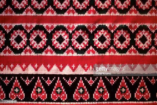 Detail of Ikat textile Andhra Pradesh India