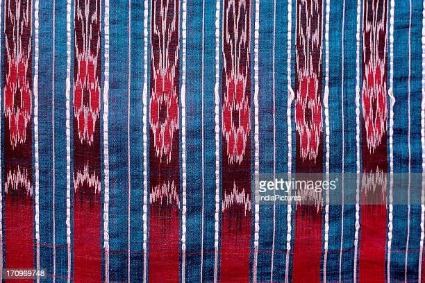 Detail of Ikat textile, Orissa, India.