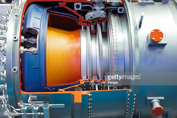 Detail der industriellen gas turbine drehen