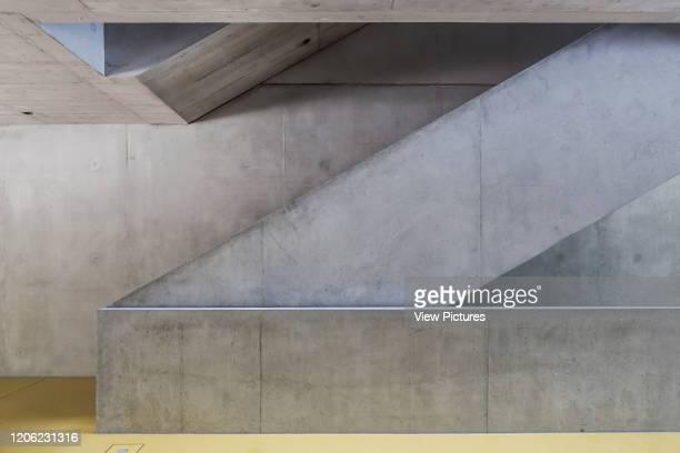 Detail of internal concrete staircase Research Centre Computer Science University Stuttgart Vaihingen Vaihingen Germany Architect hartwig schneider...