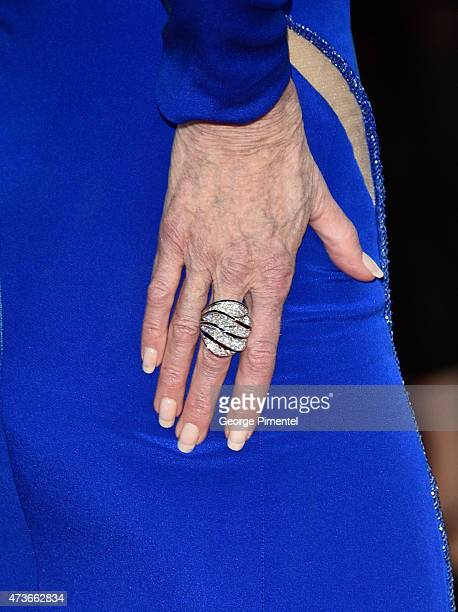 A detail of Jane Fonda's ring at 'The Sea Of Trees' Premiere during the 68th annual Cannes Film Festival on May 16 2015 in Cannes France