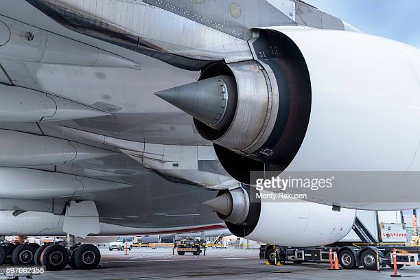 Detail of jet engine of A380 aircraft