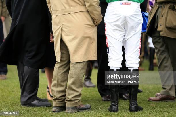 Detail of jockey riding breeches