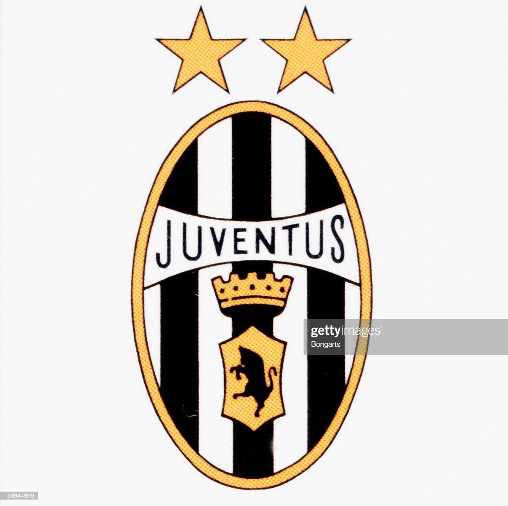 Detail of Juventus football club's logo on January 1, 1996 ...