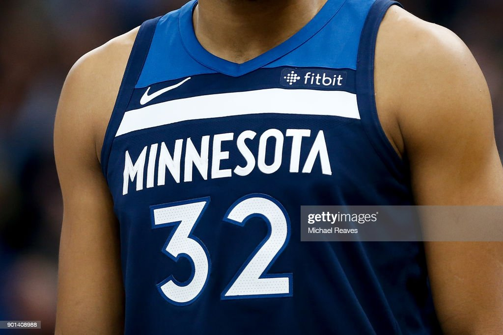 A Detail Of Karl Anthony Towns Of The Minnesota Timberwolves