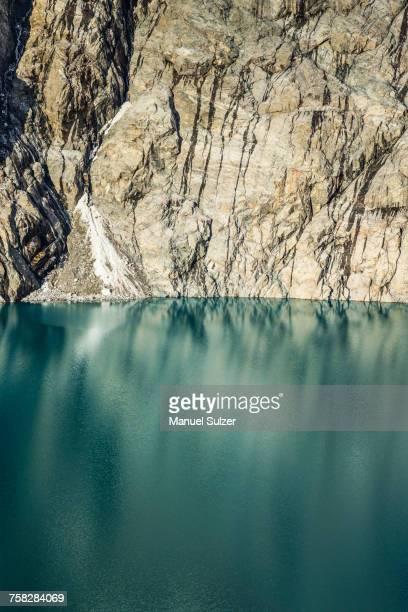 Detail of Laguna Sucia and rockface in Los Glaciares National Park, Patagonia, Argentina
