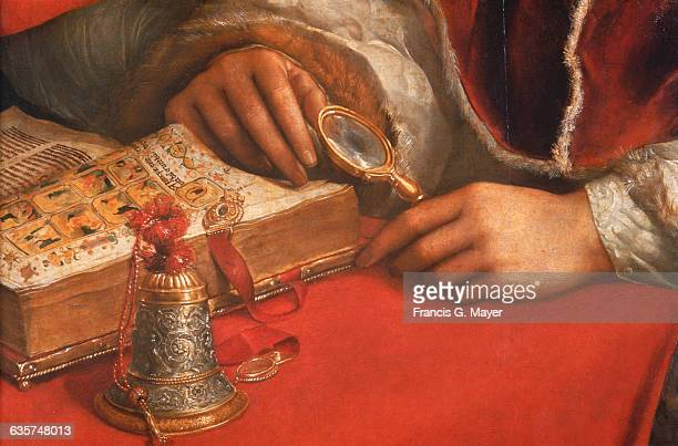 Detail of Leo X and the Cardinals by Raphael