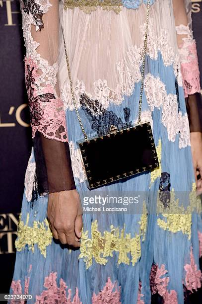 A detail of Liya Kebede's clutch at the L'Oreal Paris Women of Worth Celebration 2016 Arrivals on November 16 2016 in New York City