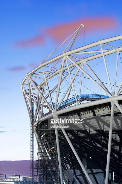 Detail of London's Olympic Stadium During Construction